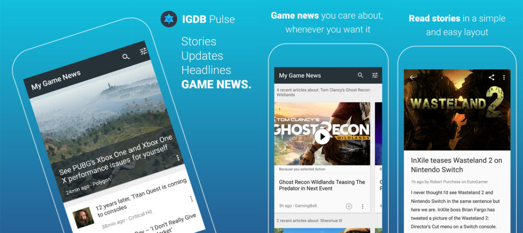 IGDB Pulse - a news app for gamers