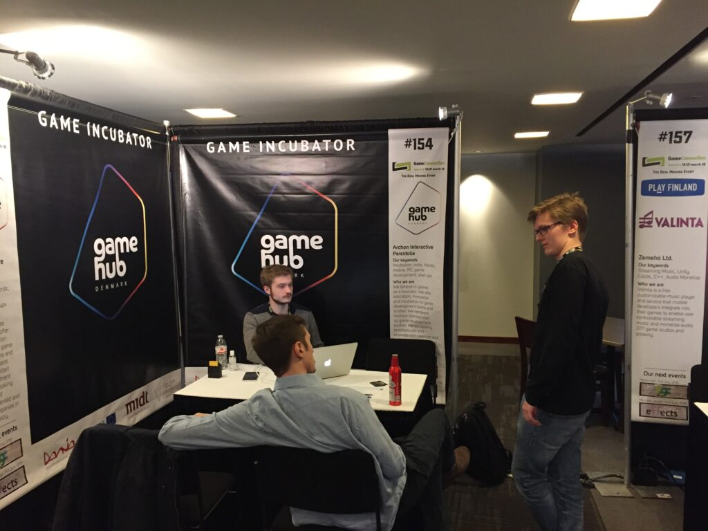 Game Hub Denmark booth at Game Connection 2018