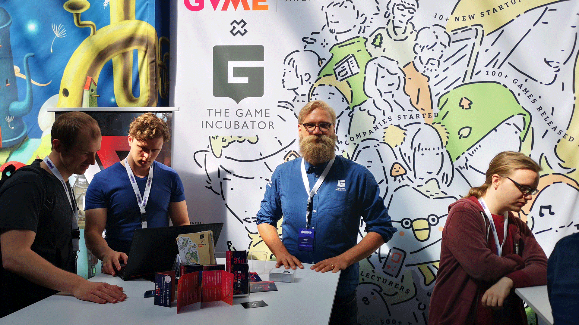 Sweden Game Arena booth