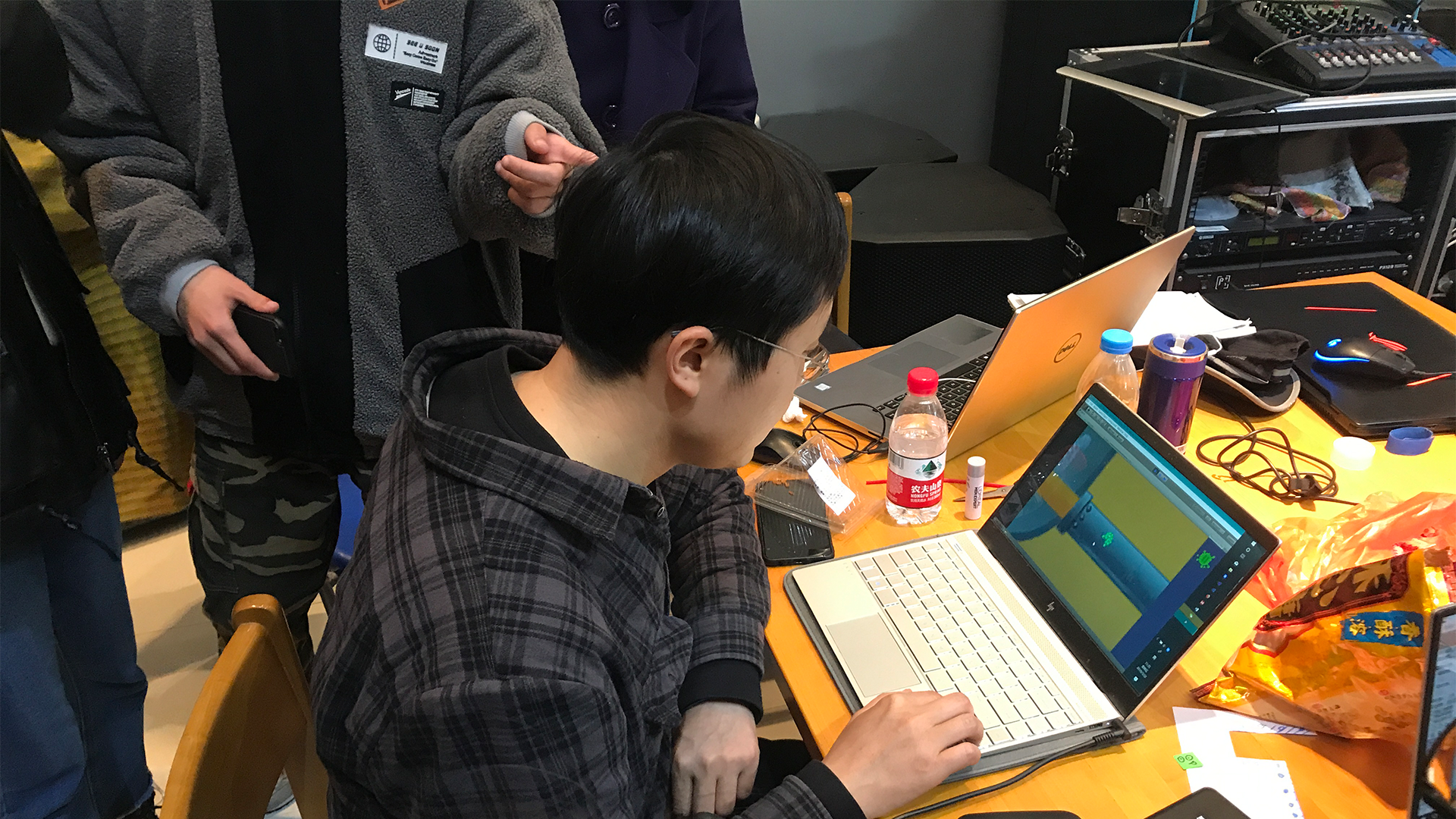 Chinese student testing serious game at Wuxi University