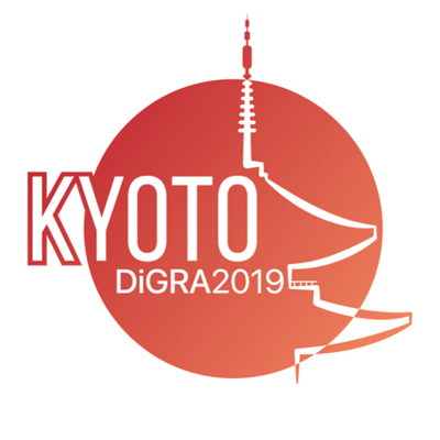 Logo for DiGRA 2019 conference, Kyoto