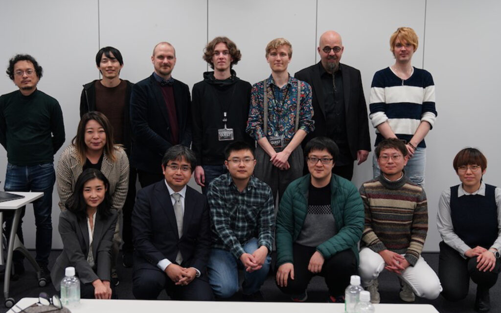 Travel Report from Japan - Group photo of researchers from University of Skövde and from Cygames
